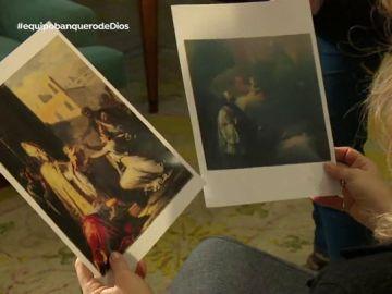 Una perito examina los 'Goya' que quería subastar Javier Ulloa