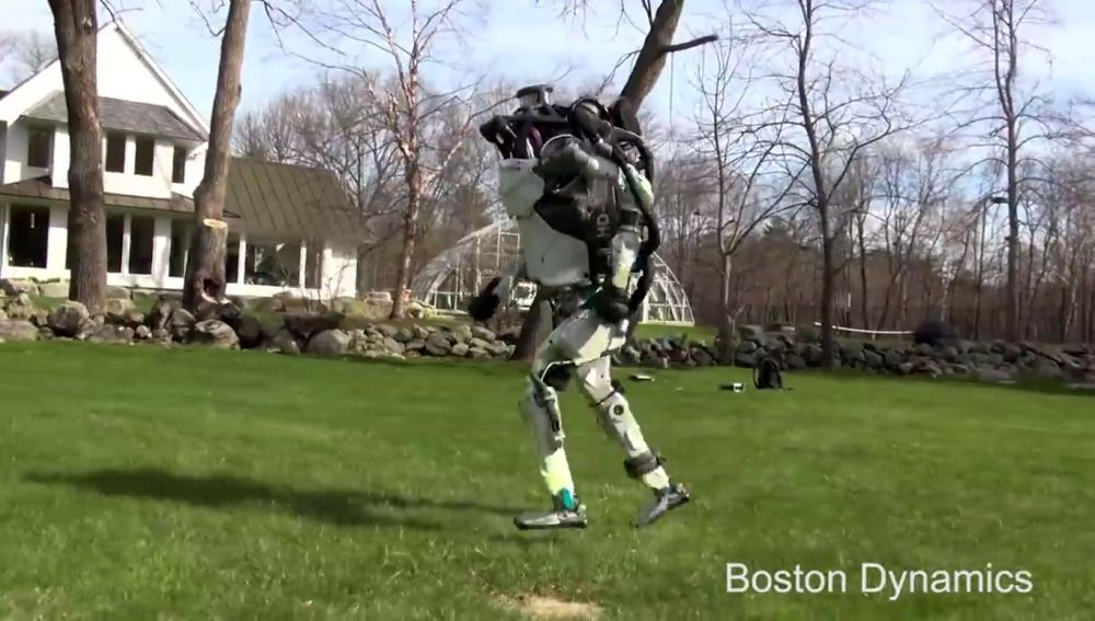 El robot de Boston Dynamics corriendo