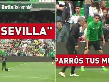 Insultos al Sevilla y a Caparros en el entrenamiento del Betis
