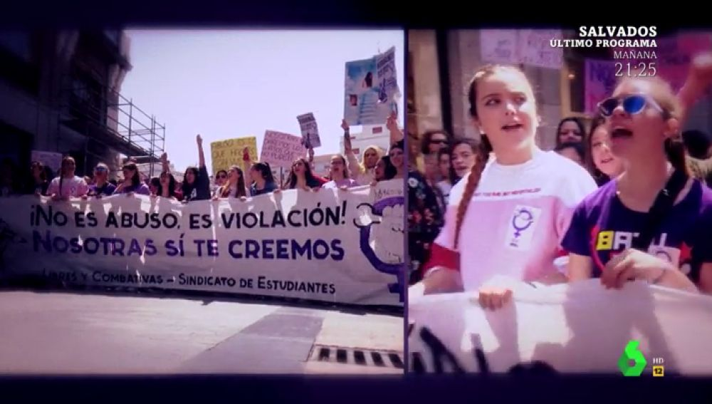 Las estudiantes van a la huelga para protestar contra la sentencia de 'La Manada'