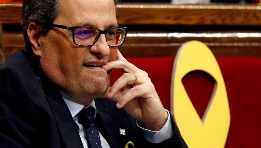 El candidato de JxCat a la presidencia de la Generalitat, Quim Torra