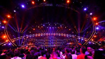 Vista general del escenario durante la segunda semifinal del 63º Festival de la Canción de Eurovisión