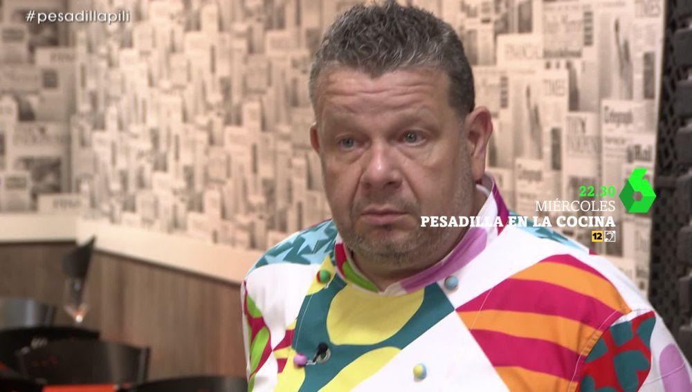 """Alberto Chicote, testigo de la """"locura"""" de la dueña de un restaurante en Pesadilla en la cocina"""