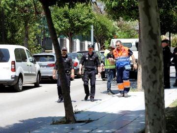 Alrededores del lugar donde se ha producido el asesinato en Marbella