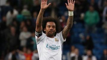Marcelo, en un partido con el Real Madrid