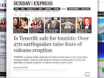 Tabloides británicos crean una alarma falsa sobre un inexistente riesgo en el Teide