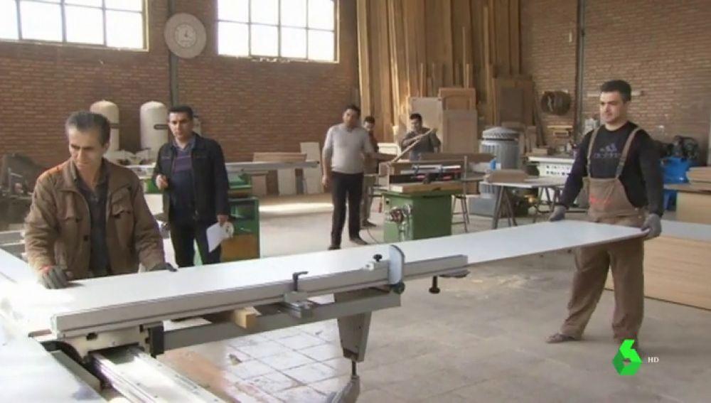 Trabajadores en Irán