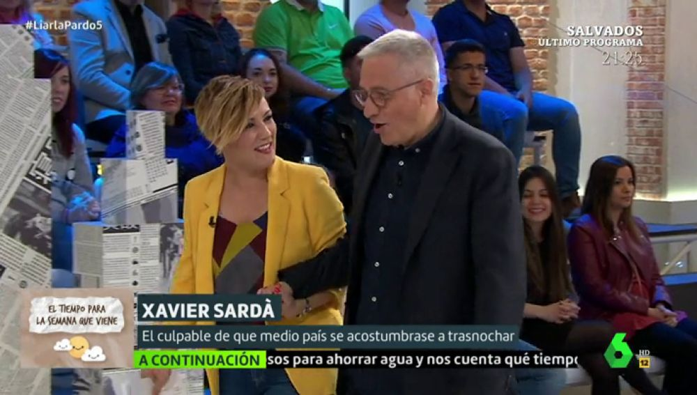 Cristina Pardo y Xavier Sardà
