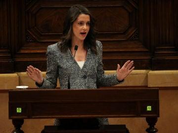 Inés Arrimadas en la segunda sesión del debate de investidura