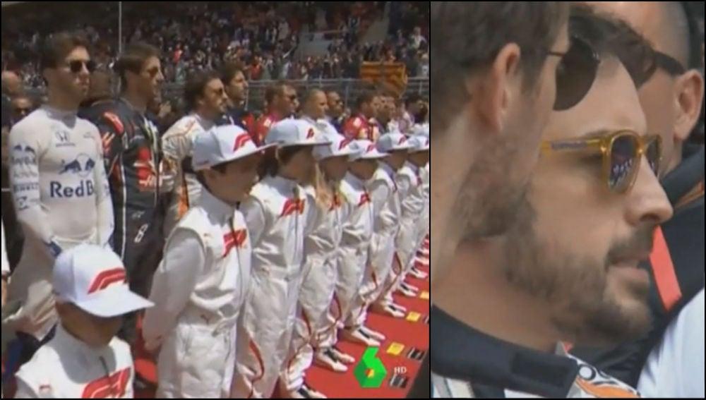 Los pilotos de Fórmula 1, en el GP de España