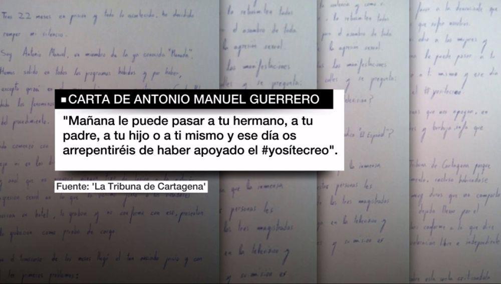 Carta del guardia civil de la Manada