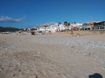 Playa de Getares, en Algeciras