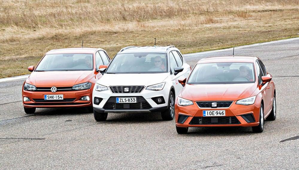 Seat Arona, Seat Ibiza y VW Polo
