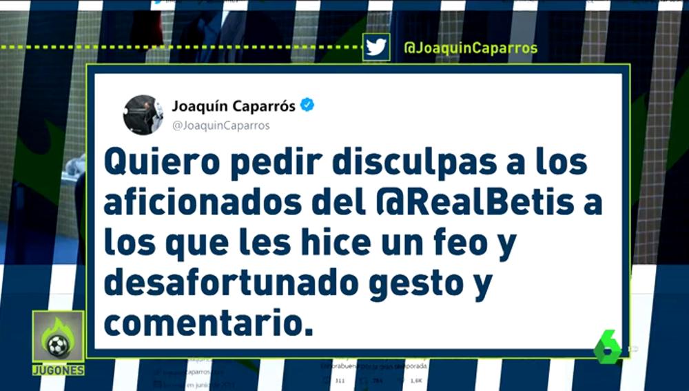 """Caparrós pide disculpas por su gesto a la afición del Betis: """"La rivalidad no debe llegar nunca a esos extremos"""""""