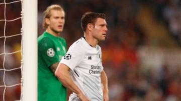 James Milner, en un partido del Liverpool