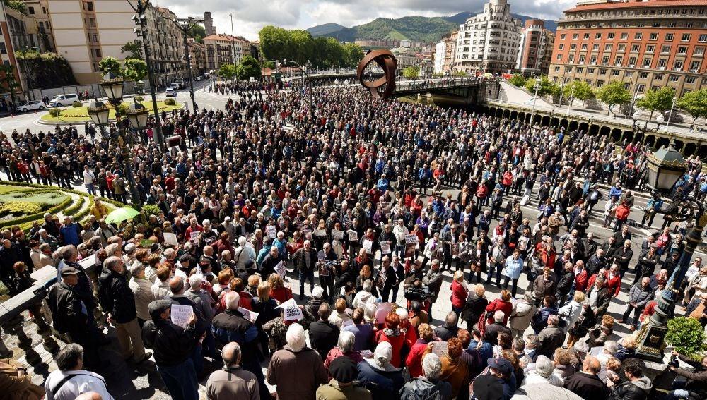 Pensionistas en Bilbao