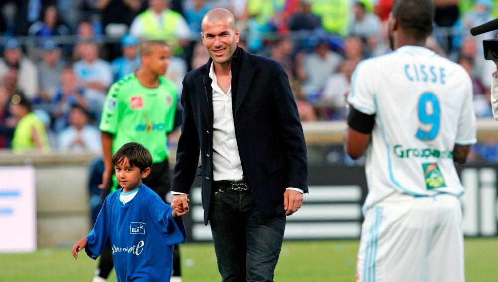 Zidane, antes de un encuentro del Marsella