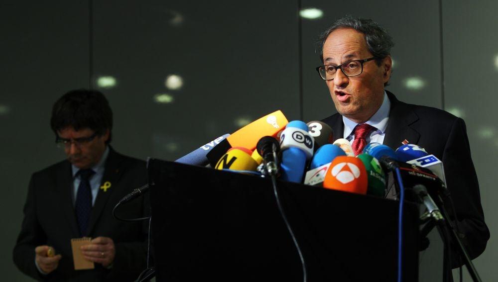 El recién elegido presidente de la Generalitat de Cataluña, Quim Torra
