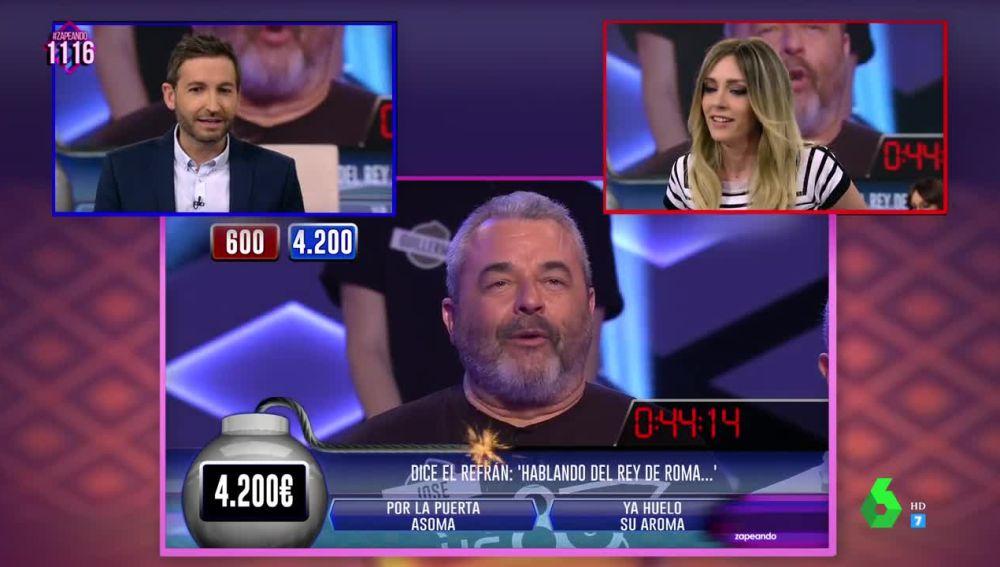 """Anna Simon revalida su título como """"invencible"""" en la prueba de los dos minutos de ¡Boom! """"humillando"""" a Frank Blanco"""