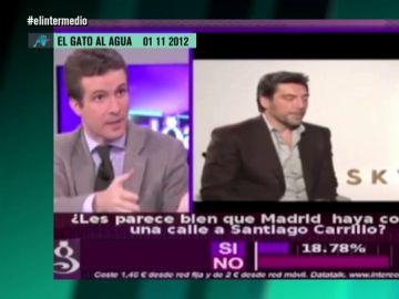 Pablo Casado y Javier Bardem