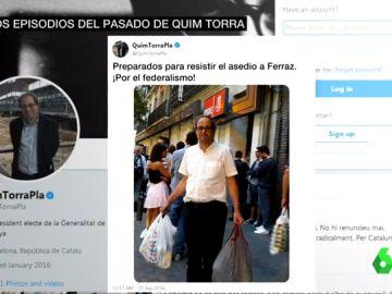 Quim Torra haciéndose pasar por militante del PSOE