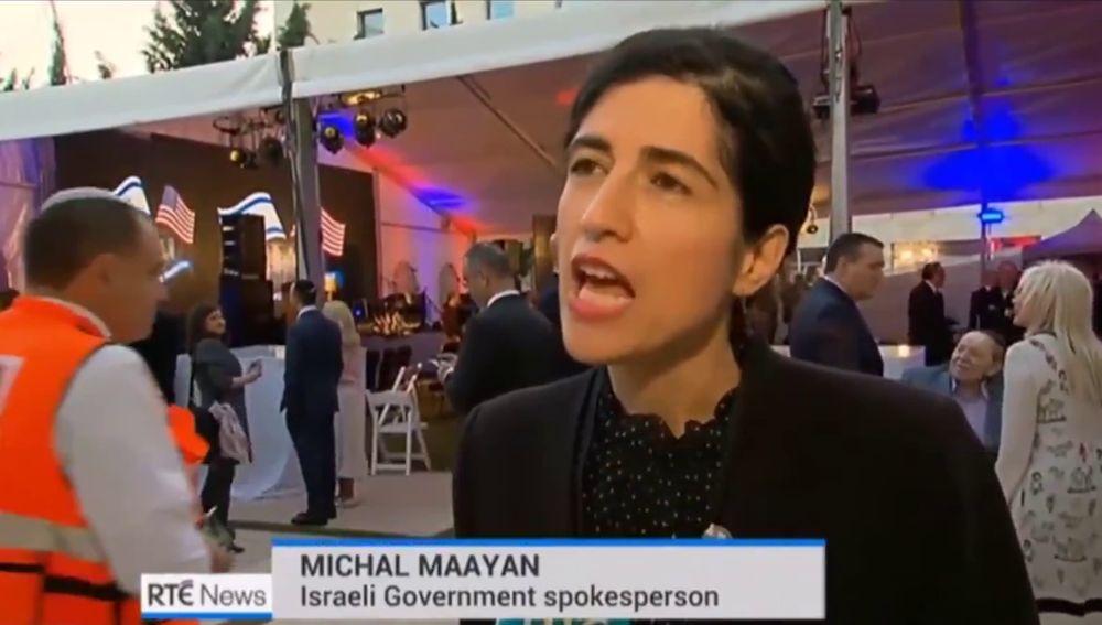Michal Maayan, portavoz del Ministerio de Exteriores israelí