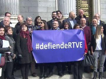 Manifestación en defensa de TVE