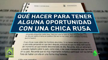 """Polémico manual de la AFA para el Mundial: """"Qué hacer para tener alguna oportunidad con una chica rusa"""""""