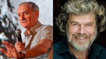 Los alpinistas Welicki y Messner