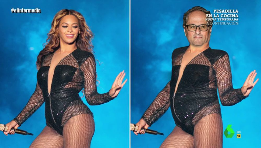 Quim Torra a lo Beyoncé