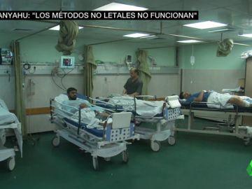 El hospital de Gaza, desbordado ante los miles de heridos por el brutal ataque de Israel mientras siguen las protestas