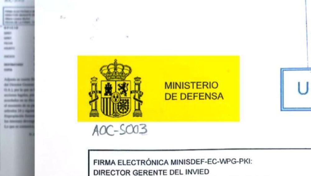 Documento del ministerio de Defensa sobre la S30