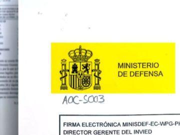 Documento del ministerio de Defensa sobre la S30