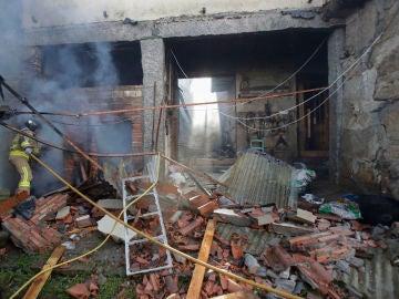 Destrozos ocasionados por la explosión en Tui