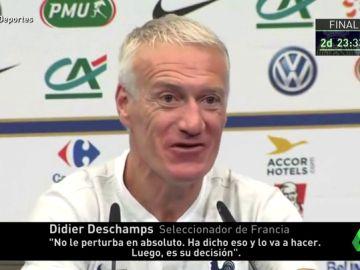 """Deschamps: """"Griezmann no está preocupado por su futuro, ya dijo que lo arreglaría antes del Mundial"""""""