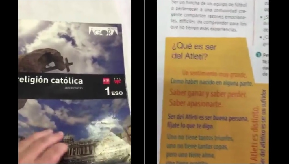 El sentimiento del Atlético, en un libro de religión