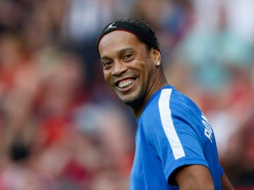 Ronaldinho, en un partido amistoso
