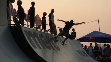 Los riders en el Festival de O Marisquiño