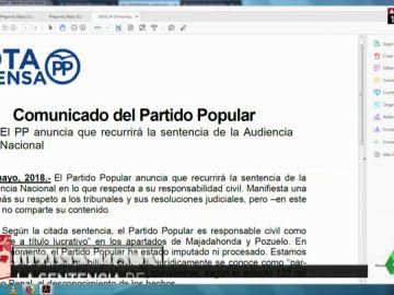 EL PP ANUNCIA QUE RECURRE