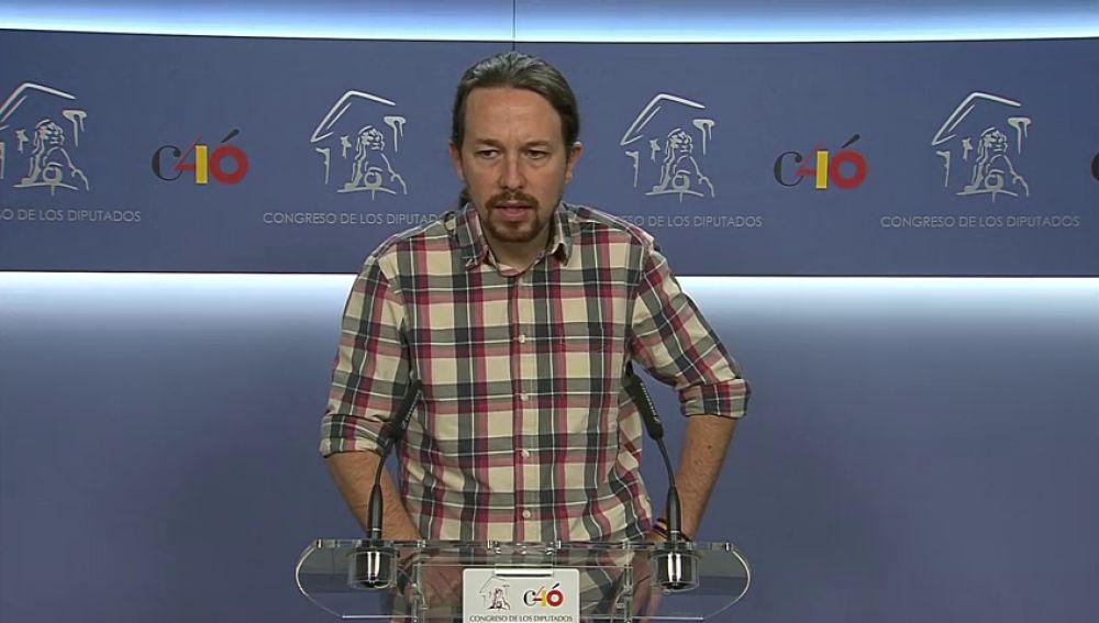 Iglesias llama a la oposición a unirse en una moción de censura y anuncia que apoyaría a Pedro Sánchez tras conocerse la sentencia del caso Gürtel