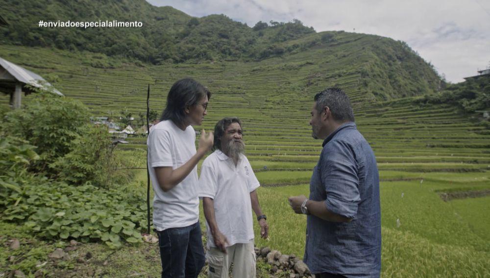 Jalis de la Serna visita las terrazas de Batad