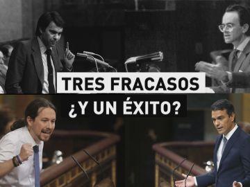 Las tres mociones de censura que fracasaron en España