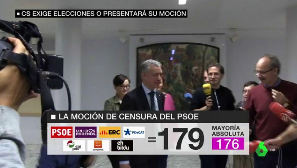 El PNV, la llave para que las cuentas de Pedro Sánchez salgan y prospere la moción de censura a Mariano Rajoy