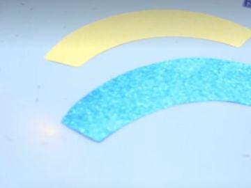 ¿Cuál de estas dos piezas crees que es más grande, la azul o la amarilla?