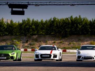 Mercedes Amg GT-R, Audi R8 RWS y Porsche 911 GT3