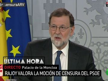 """Mariano Rajoy: """"La moción de censura del PSOE va contra la estabilidad de España y perjudica la recuperación económica"""""""