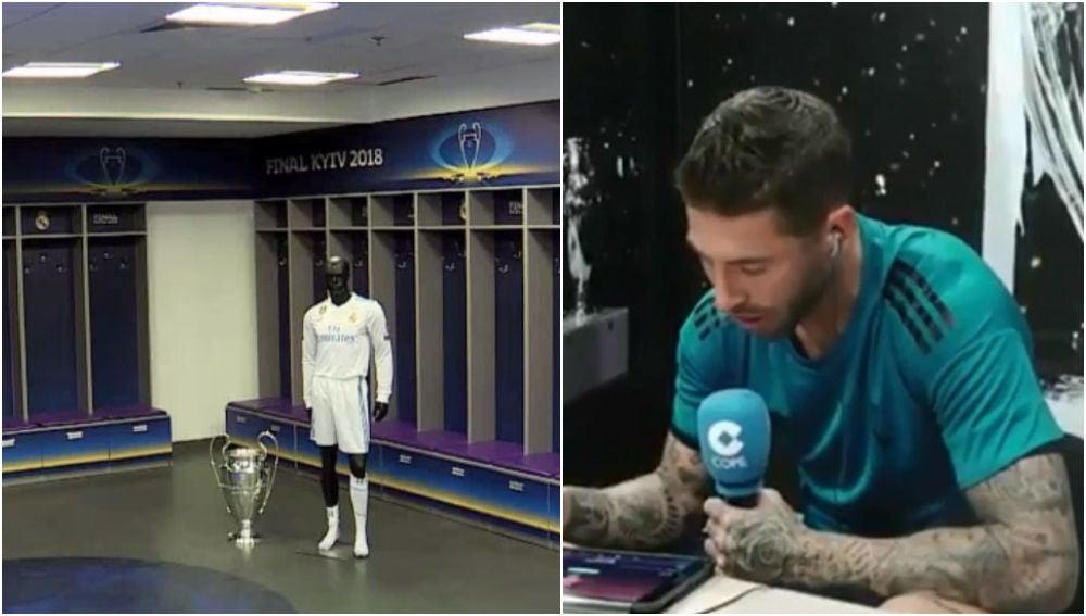 Ramos desvela la música que escucharán antes de la final