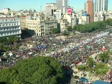 Manifestación multitudinaria en Buenos Aires