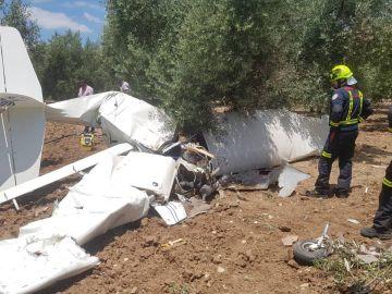 Avioneta estrellada en Loja