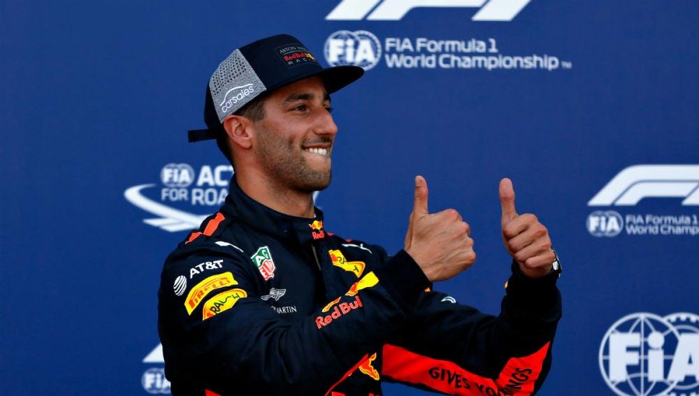 Ricciardo celebra un triunfo